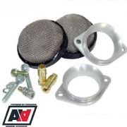 Low Profile Air Horn Trumpet Mesh Filter Kit For Weber 40IDF Jaguar V12 etc